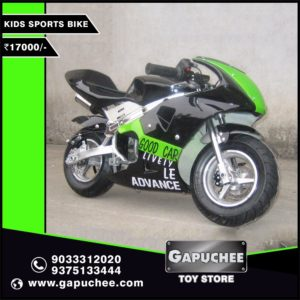 black and green pocket bike